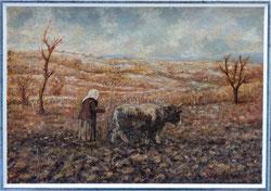 Nr. 3338 Hirtin mit Kuh