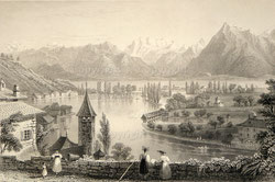 Nr.1956; Thun from the Cemetery 1838