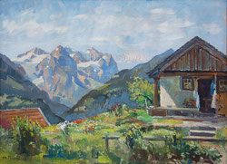 Nr.1128 Region Hasliberg mit Well-und Wetterhorn