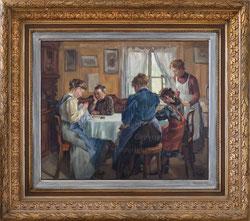 Familienidyll am Tisch