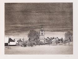 Nr. 2708 Dorflandschaft im Winter