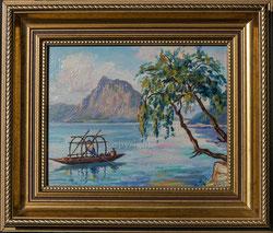 Nr.1948 Ruderboot Luganosee, Monte San Salvatore