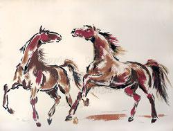 Nr.2148  Zwei Pferde