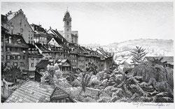 Nr. 1666 Aarau, Halde mit Stadtkirche