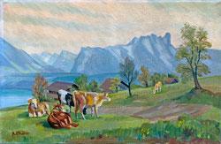 Nr.825 Weidende Kühe, Berner Oberland