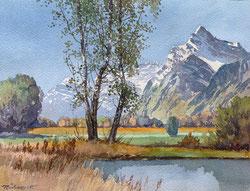 Nr. 2865 Linthal mit Rautlispitze und Glärnisch
