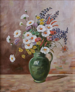 Nr. 1197 Wiesenblumen in Vase datiert 1954