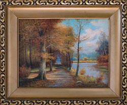 Nr. 2881 Wald- Uferweg im Oktober