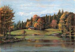 Nr.3592 Herbstlandschaft mit See