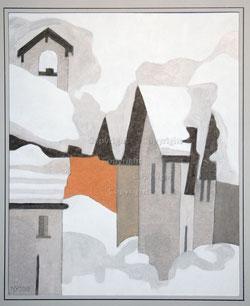 Nr. 1497 Winter in einem Bündner Dorf