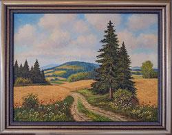 Nr. 2953  Kornfelder + Wälder