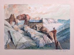 Nr.2880 La Cabanne du Requin et L'Aiguille Verte, Chamonix