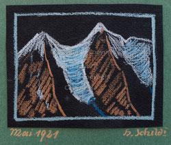 Nr. 2731 Berglandschaft mit Gletscher