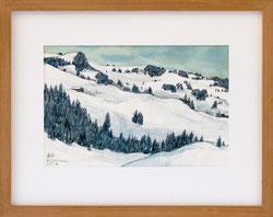 Nr. 3265 Winterlandschaft bei Zweisimmen,1984