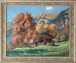 Nr. 3415 Scheune im Herbst / Brienzer Rothorn