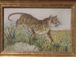 Tiger. Oelbild 37 x 57 cm, ca. 1916