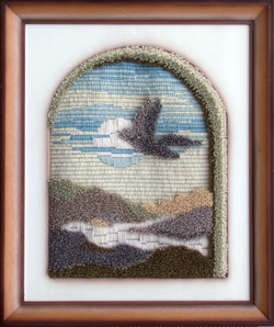 Nr. 1198;  Romanisches Fenster mit Taube