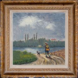 Nr. 1414 Wanderer mit Hund