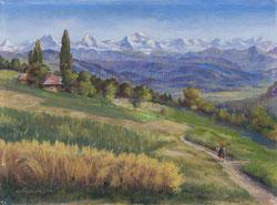 Nr.868 Blick auf die Berner Alpen