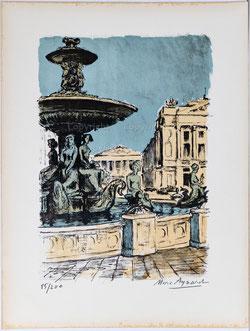 Nr. 2984 Brunnen auf dem Place de la Concorde, Paris