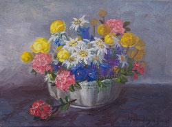 Nr. 1340 Alpenblumen in Schale