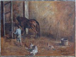 Nr. 3246 Im Pferdestall