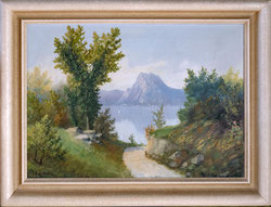 Blick zum Luganosee mit Monte San Salvatore