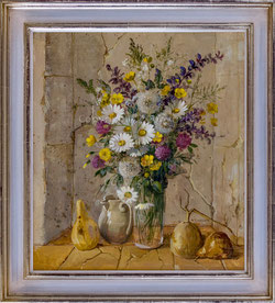 Nr. 2809 Fleurs des champs dans niche de pierre