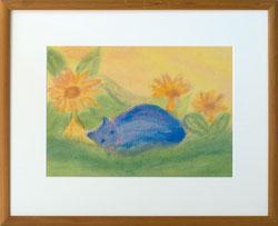 Nr. 2854  Katze in Blau