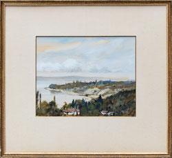 Nr. 3647 Landschaft mit See