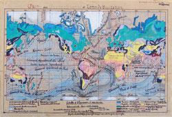 Nr.1029 Von Hand gezeichnete Weltkarte