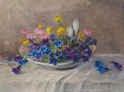 Nr. 885 Alpenblumen in Schale