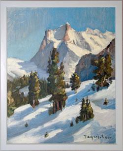 Nr. 1867 Wetterhorn im Winter