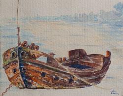 Nr. 1677 Boot vor Anker