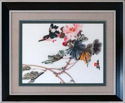 Nr.2918 Vogel und Blumen