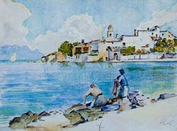 Nr.803 Wäscherinnen am See (nach U. Marotto)