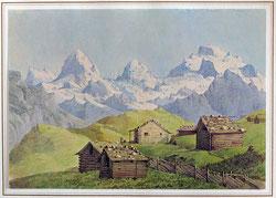 Mürren (Erinnerung an die Partie nach Mürren, 17.7.1847) Eiger Mönch Jungfrau
