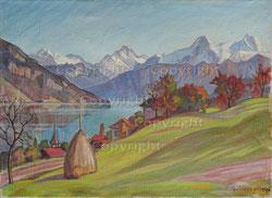 Nr. 2050    Einigen mit Berner Alpen