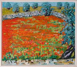 Nr 2715  Mohnblumen und Olivenbäume