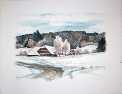 Nr. 1856 Schneelandschaft im Emmental
