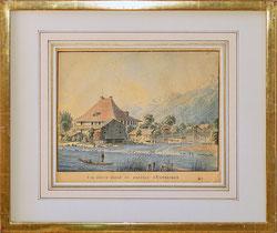 Szene in Unterseen um 1819
