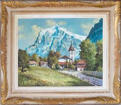 Nr.2746 Wetterhorn mit Kirche Grindelwald