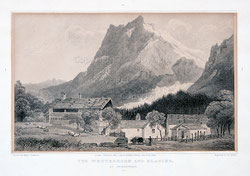 Nr. 1377 Wetterhorn + Glacier at Grindelwald