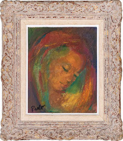 Nr. 3513 Frauenportrait im Kerzenllicht