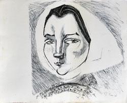 Nr.1934;  Landfrauen-Portrait