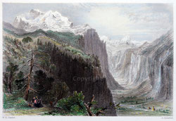 Nr.517 The Valley of Lauterbrunnen anno 1836