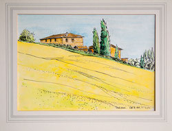 Nr.1564;  Landschaft Toskana