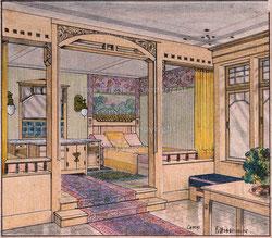 Nr. 2737  Schlafzimmer mit Trennelement