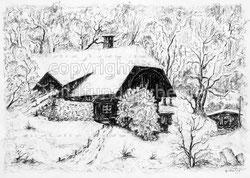 Nr.119 Bauernhaus im Winter