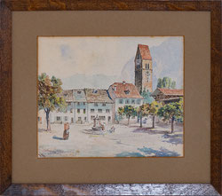 Nr. 3294 Szene am Stadthausplatz, Unterseen